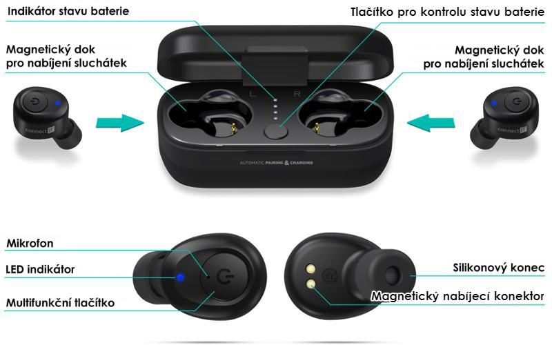 Bezdrátová sluchátka Connect IT CEP-9100