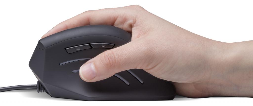 Vertikálna myš Connect IT CMO-2500-BK