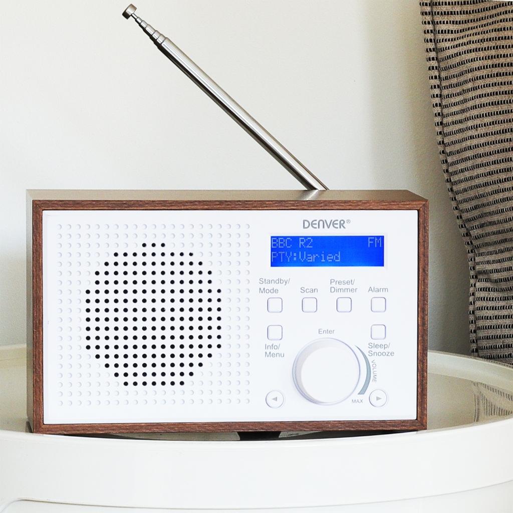 Digitální rádio Denver DAB-46WHITE