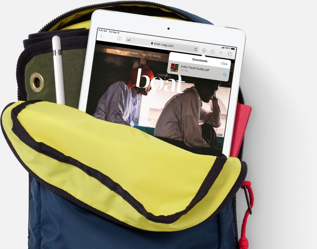 Apple iPad v batohu