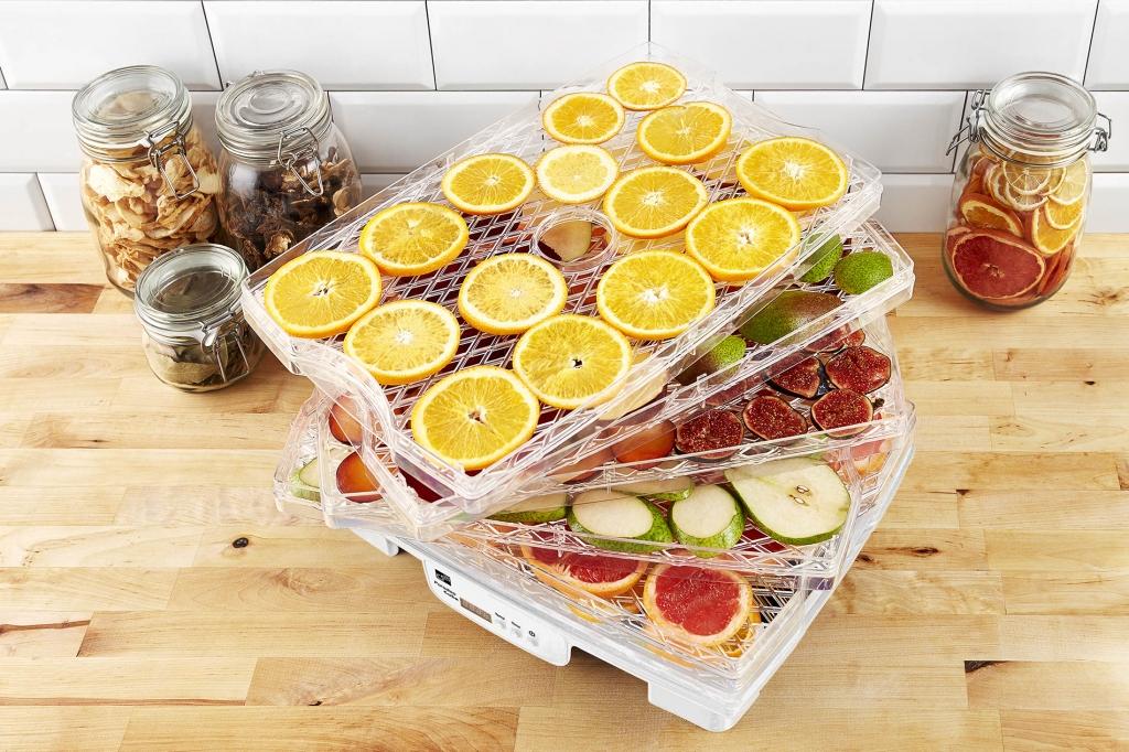Sušička ovocia, zeleniny a húb G21 Paradiso big, biela