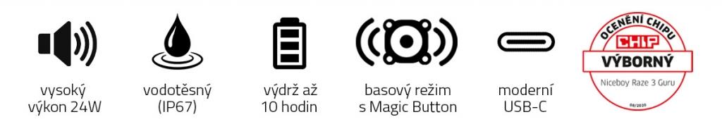 Bluetooth reproduktor Niceboy RAZE 3 Guru