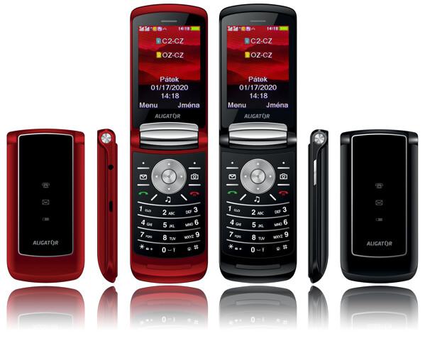 Tlačidlový telefón Aligator DV800