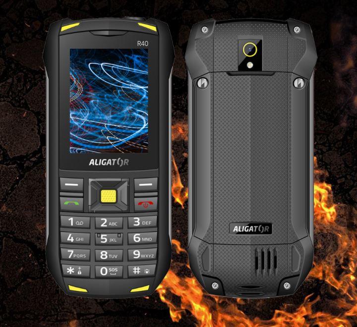 Odolný tlačítkový telefon Aligator R40 eXtremo
