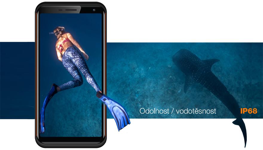 Odolný mobilní telefon Aligator RX800 eXtremo