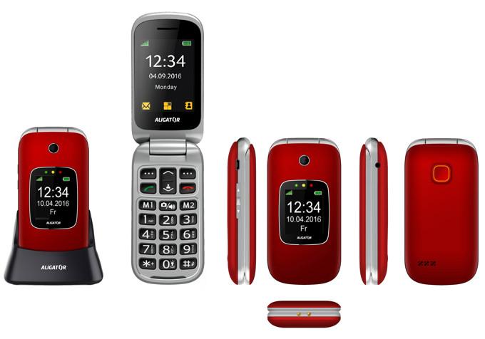 Tlačítkový telefon pro seniory Aligator V650
