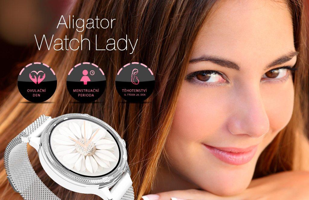 Dámské chytré hodinky Aligator Watch Lady