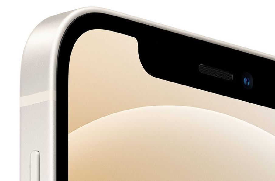 Detail prednej kamery iPhone 12