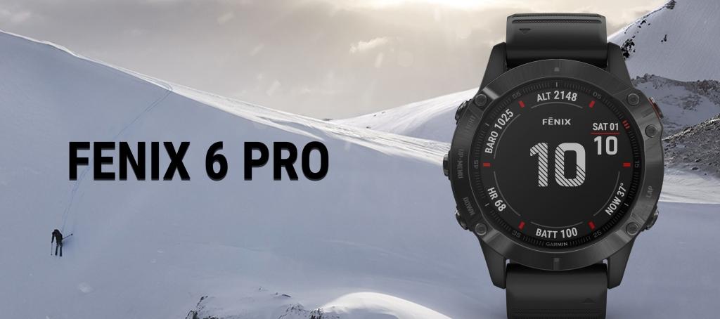 Chytré hodinky Garmin Fenix 6 Pro Glass černá