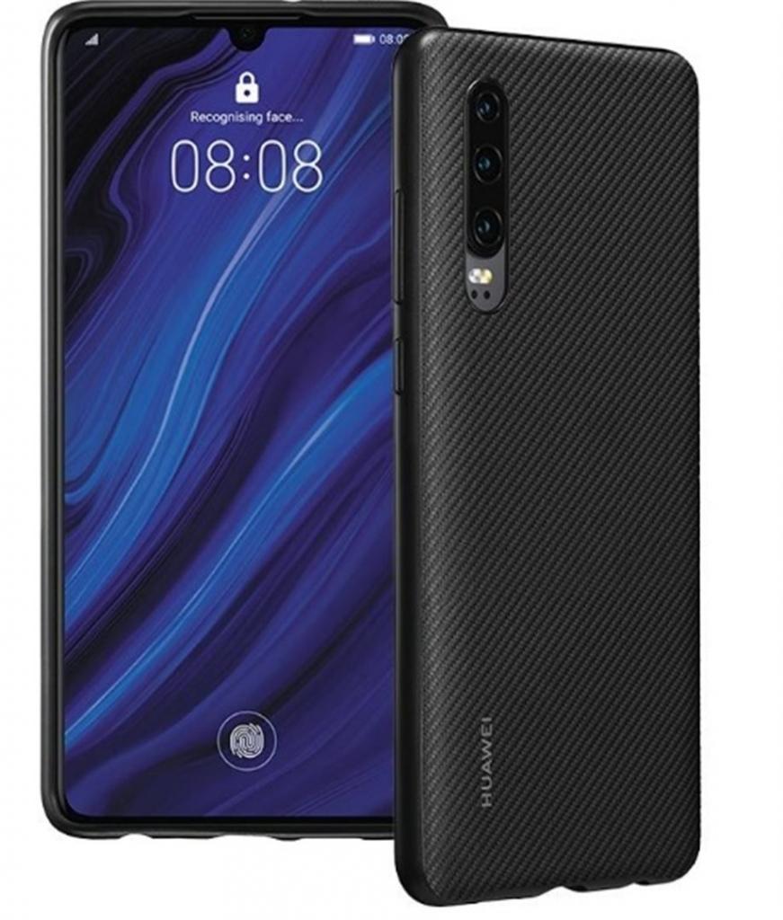 Obal na mobil Huawei P30 v čiernej farbe