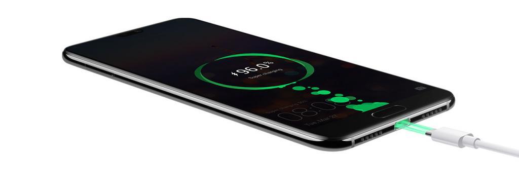 Huawei P20 - detail nabíjania