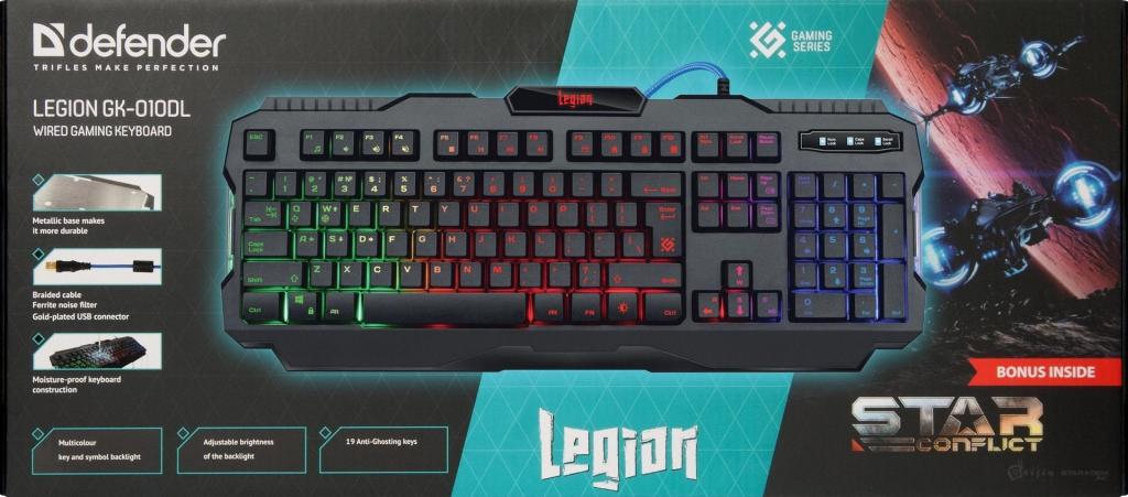 Herní klávesnice Defender Legion GK-010DL