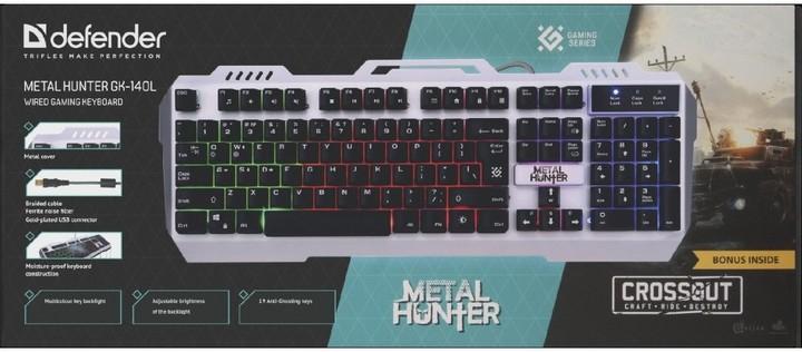 Herní klávesnice Defender Metal Hunter GK-140L
