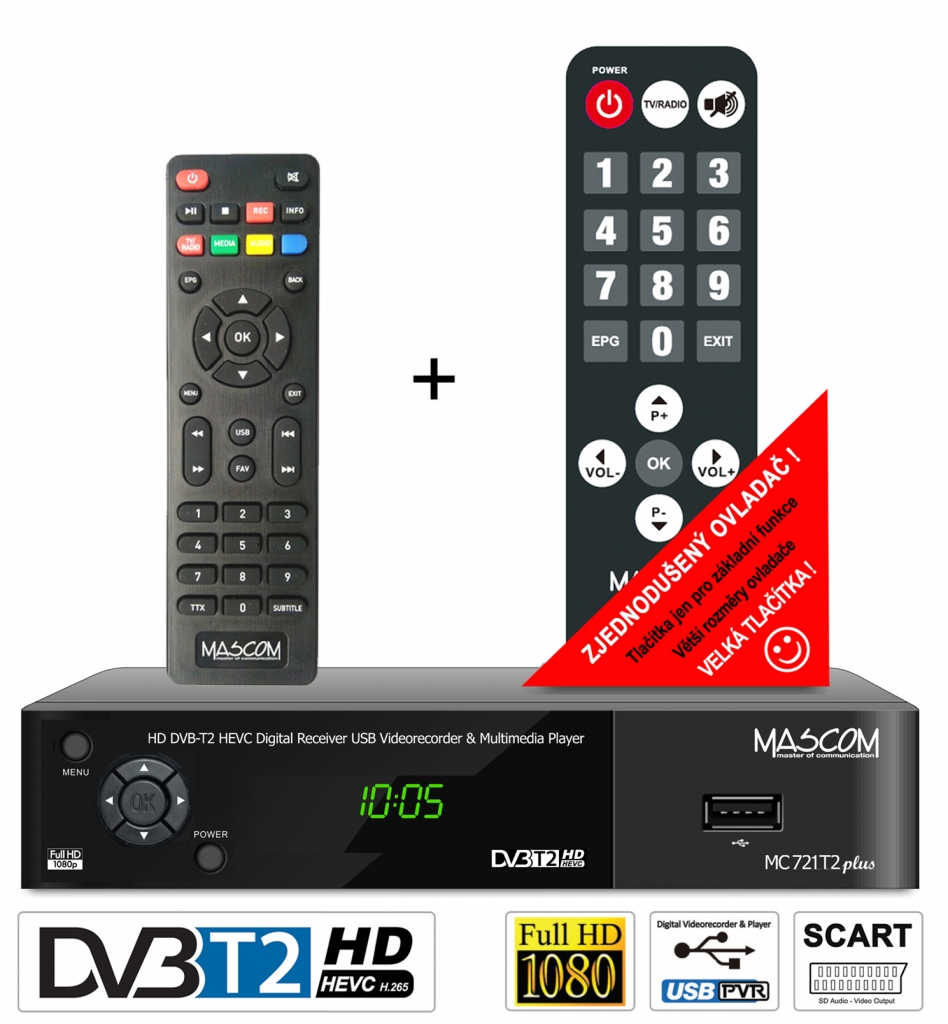 Set-top-box Mascom MC721PLUS