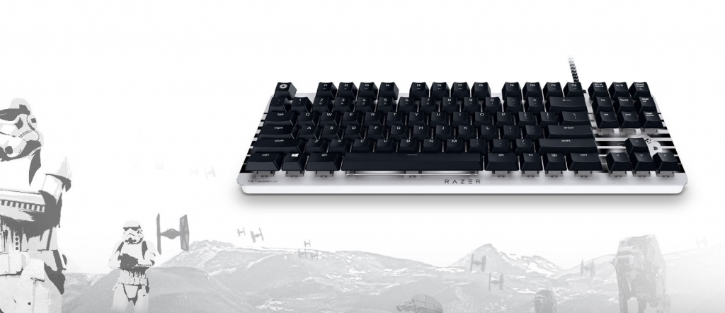 Herní klávesnice Razer BlackWidow Lite Stormtrooper Edition