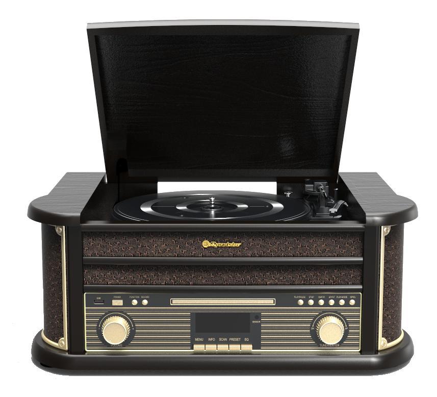 Gramofon Roadstar HIF-1898 D+BT