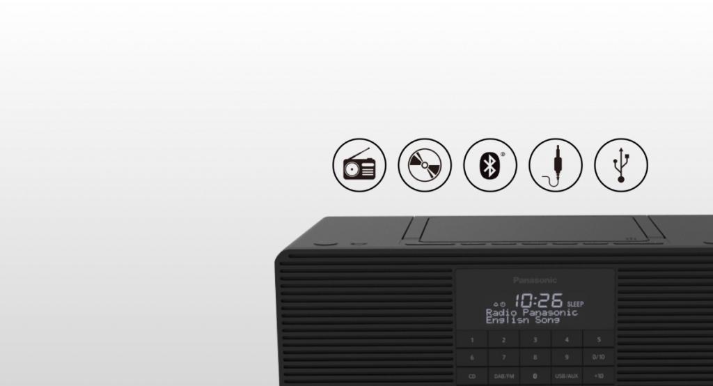 Bluetooth rádio Panasonic RX-D70BTEG-K