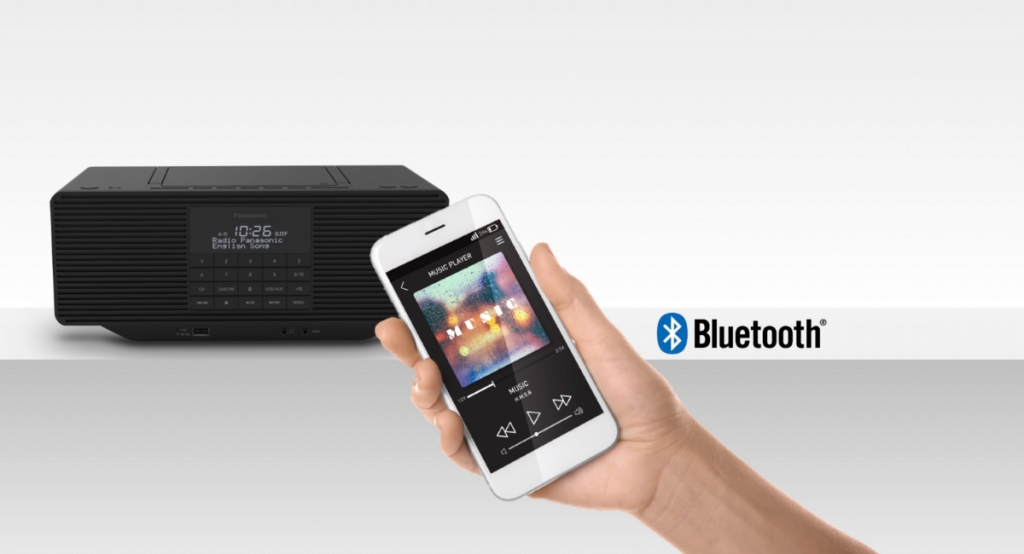 Rádio s Bluetooth Panasonic RX-D70BTEG-K