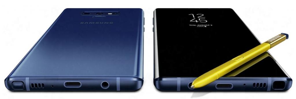Predná a zadná strana Samsung Galaxy Note 9