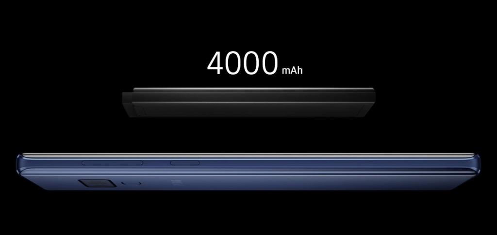 Kapacita batérie Samsung Galaxy Note 9