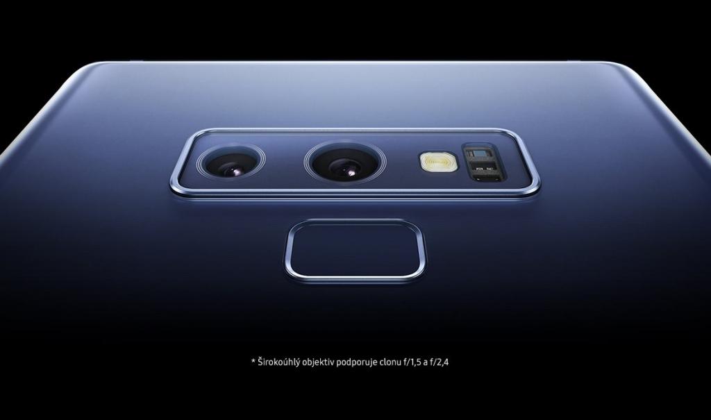 Detail zadného fotoaparátu Samsung Galaxy Note 9