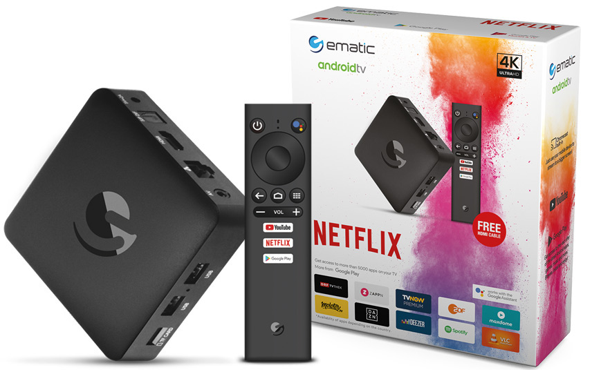 4K Android TV box Strong SRT 202EMATIC