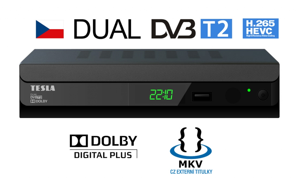 Set top box dvb-t2 Tesla DUPLEX T2