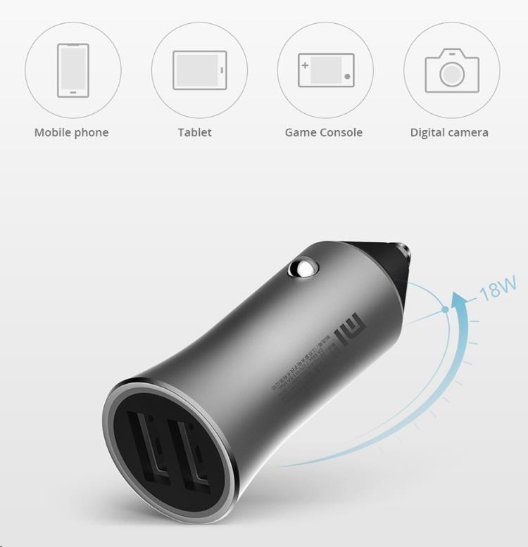 Autonabíječka Xiaomi Mi Car Charger Pro