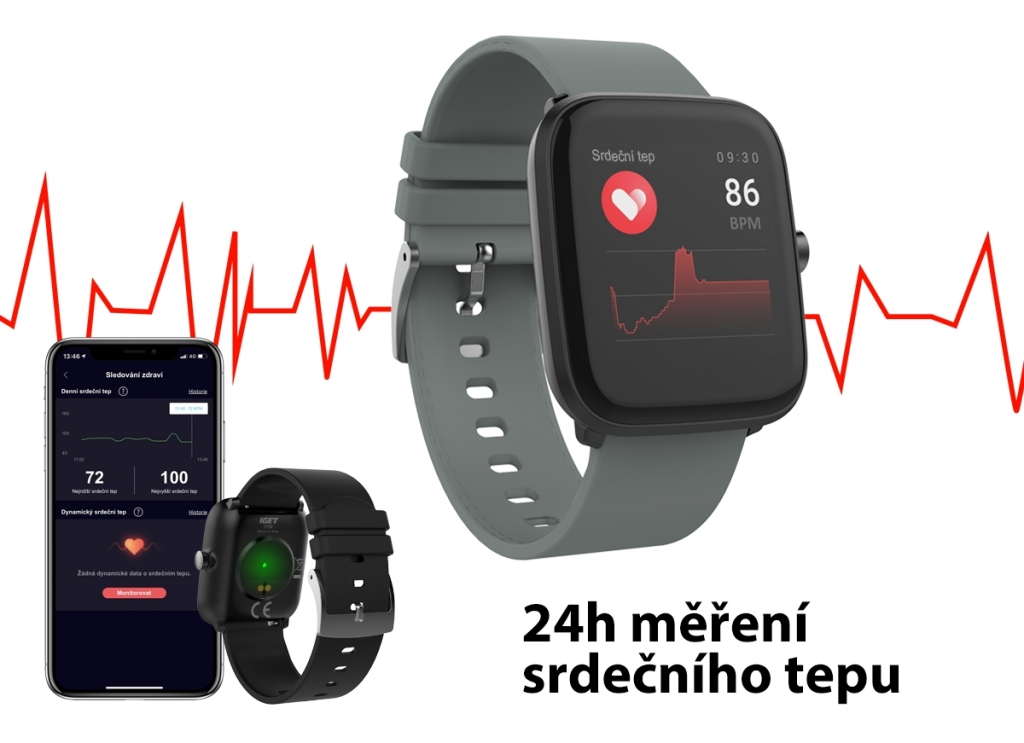Smart hodinky iGET Fit F25