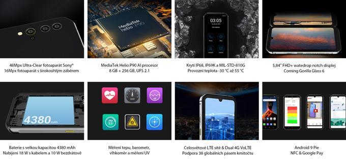 Odolný telefon iGET Blackview GBV9900