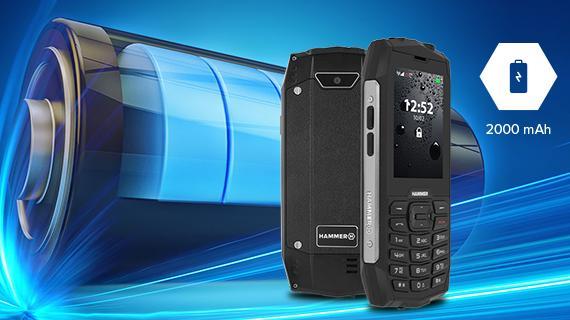 Odolný telefón myPhone Hammer 4 - kapacita batérie