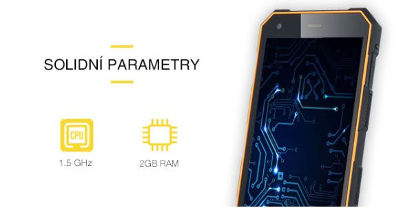 Odolný telefón myPhone Hammer ENERGY - parametre