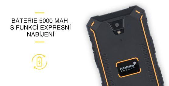 Odolný mobil myPhone Hammer ENERGY - kapacita batérie 5000 mAh