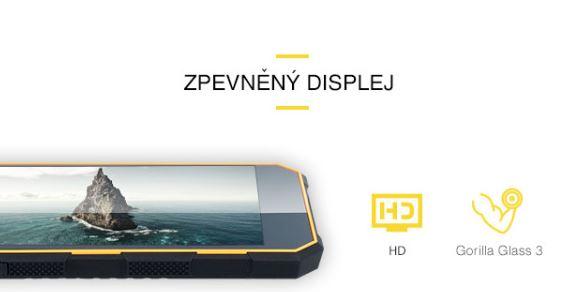 Odolný mobil myPhone Hammer ENERGY - spevnený displej pomocou Gorilla Glass 3