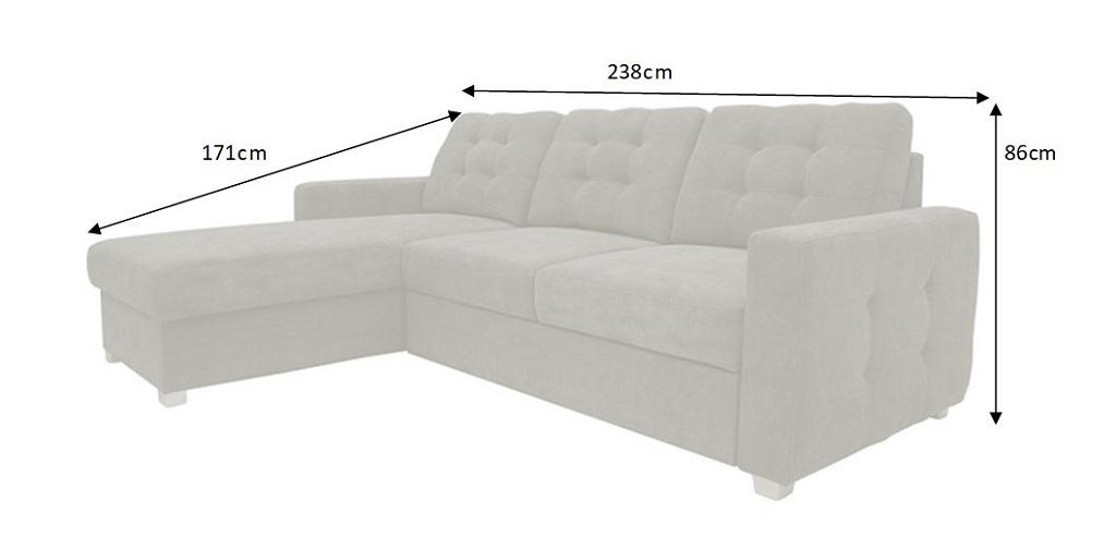 rozměry sedačky Forli
