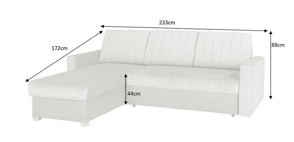 rozměry sedačky Morgat