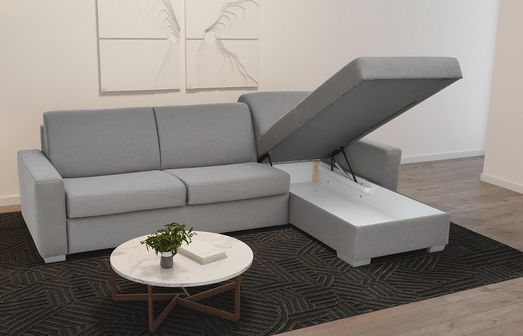 Sedací souprava Leka - detail úložného prostoru