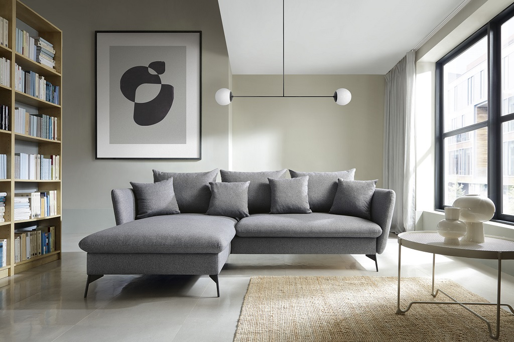 Rohová sedačka Bilto v interiéri