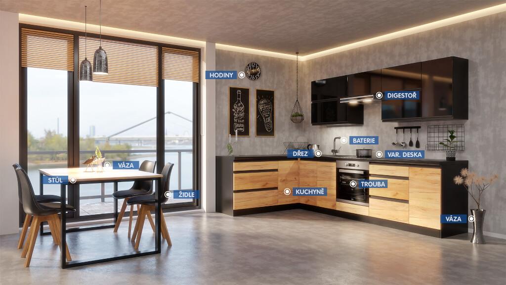 Kuchyně Brick - Sestava