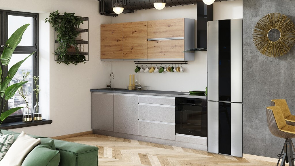 Kuchyně Metalica 260 cm