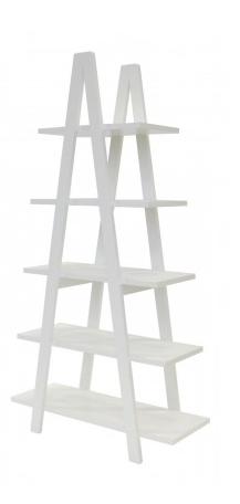 regál v bílé barvě