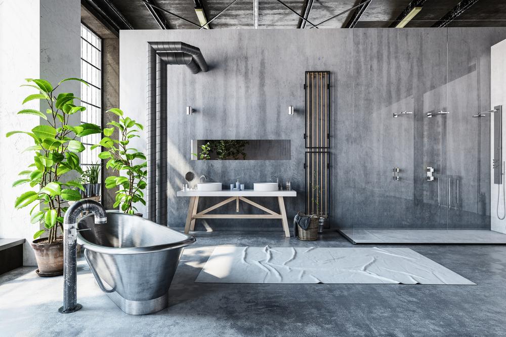 koupelna v loftovém bytě