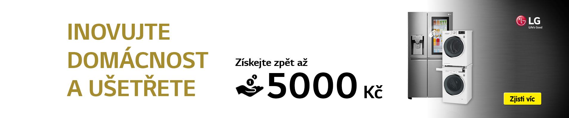 Získej až 2 000 Kč k nákupu nové ledničky LG