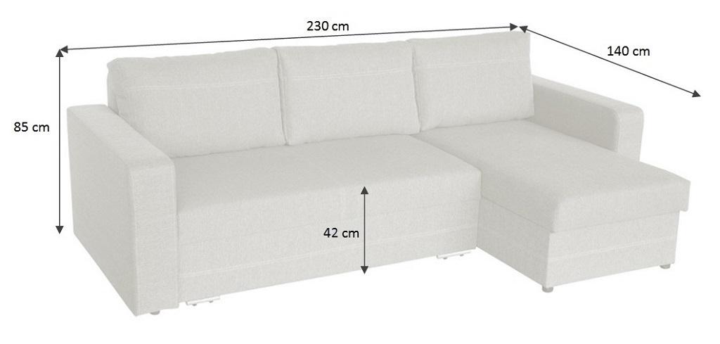 Rozměry sedačky Modica