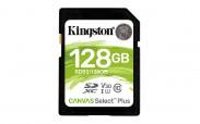 128GB SDXC Kingston Canvas Select Plus U1 V10 CL10 100MB/s