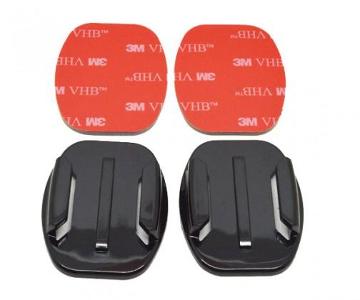 2 nalepovací držáky pro rovné plochy (s 3M) NICEBOY#