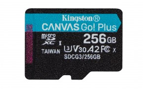 256GB microSDXC Kingston Canvas Go! Plus A2 U3 V30 170MB/s