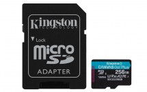 256GB microSDXC KS A2 U3 V30 170MB/s + adapt.