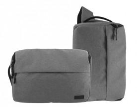 2v1 Brašna/batoh na fotoaparát TNB DC2IN1GR šedivá