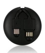 2v1 Kabel Remax USB Typ C/Lightning na USB, 1m, černá